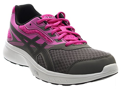 ASICS Women's Stormer Running Shoe, Carbon/Black/Pink Glow, 8.5 Medium US