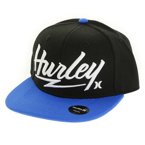 Hurley Youth Embroidered Snapback Hat (Hyper Cobalt) (Hurley Embroidered Hat)