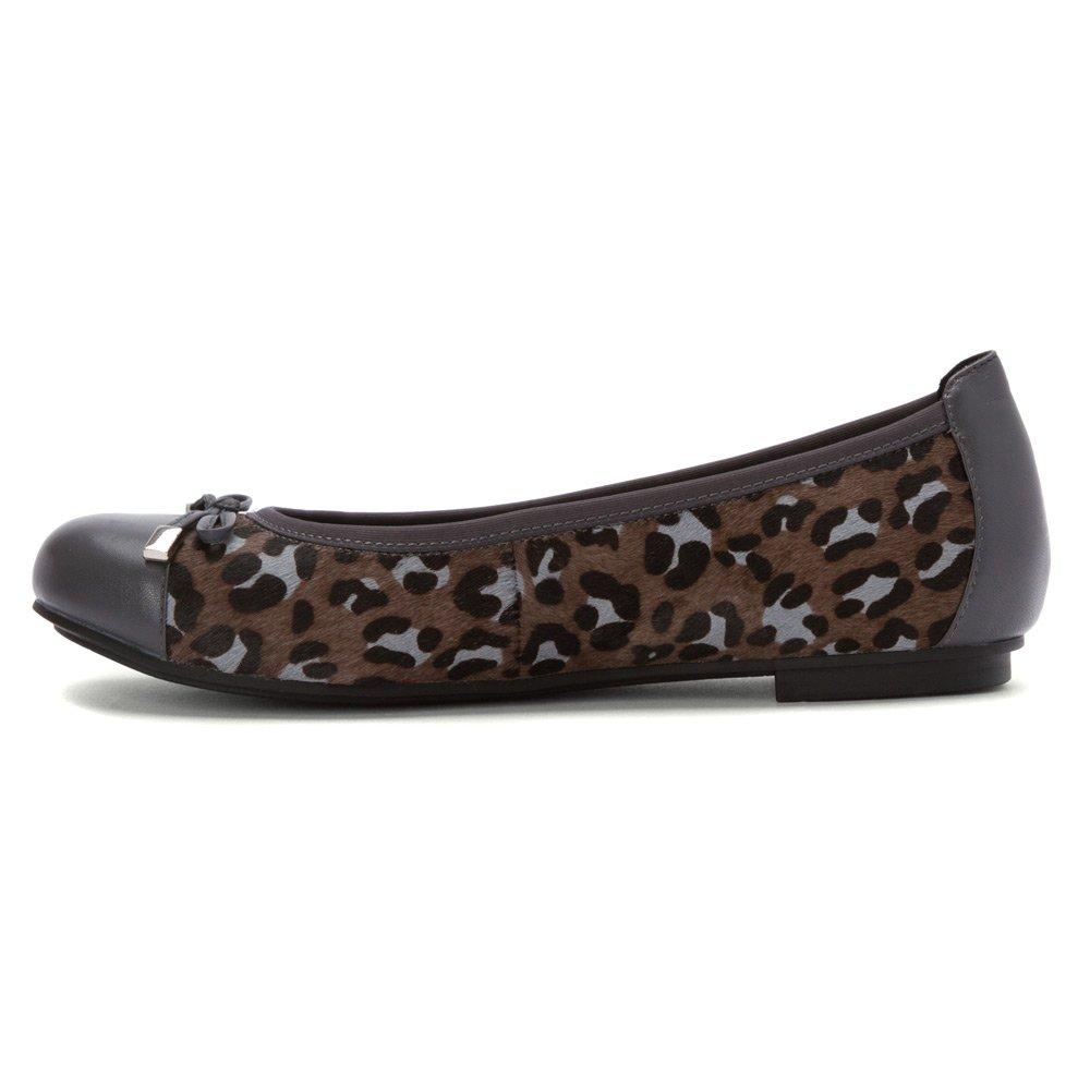 Vionic Minna Damenschuhe 359 Minna Vionic Leder Schuhes Grau Leopard b1aff0
