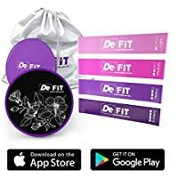 DeFiT Resistance Bands & Exercise Sliders - Best Exercise...