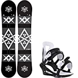 Sapient Mason Wide 157 Mens Snowboard + Chamonix Savoy Bindings - Fits US Mens Boots Sized: 9,10,11,12,13