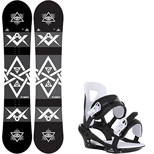 Sapient Mason Wide 157 Mens Snowboard + Chamonix Savoy Bindings - Fits US Mens Boots Sized: 9,10,11,12,13 by Sapient