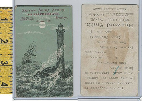 Victorian Card, 1890's, Smith's Shirt Store, Brooklyn, Eddystone - Lighthouse Stores