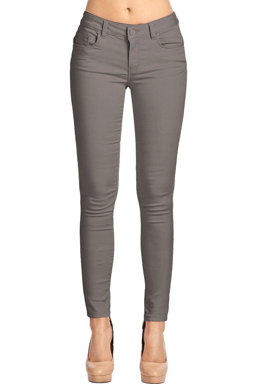 2LUV Women's Trendy Skinny 5 Pocket Stretch Uniform Pants