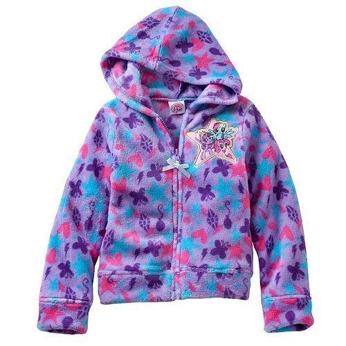 My Little Pony Toddler Girl Fleece Hoodie Jacket Purple (2T)