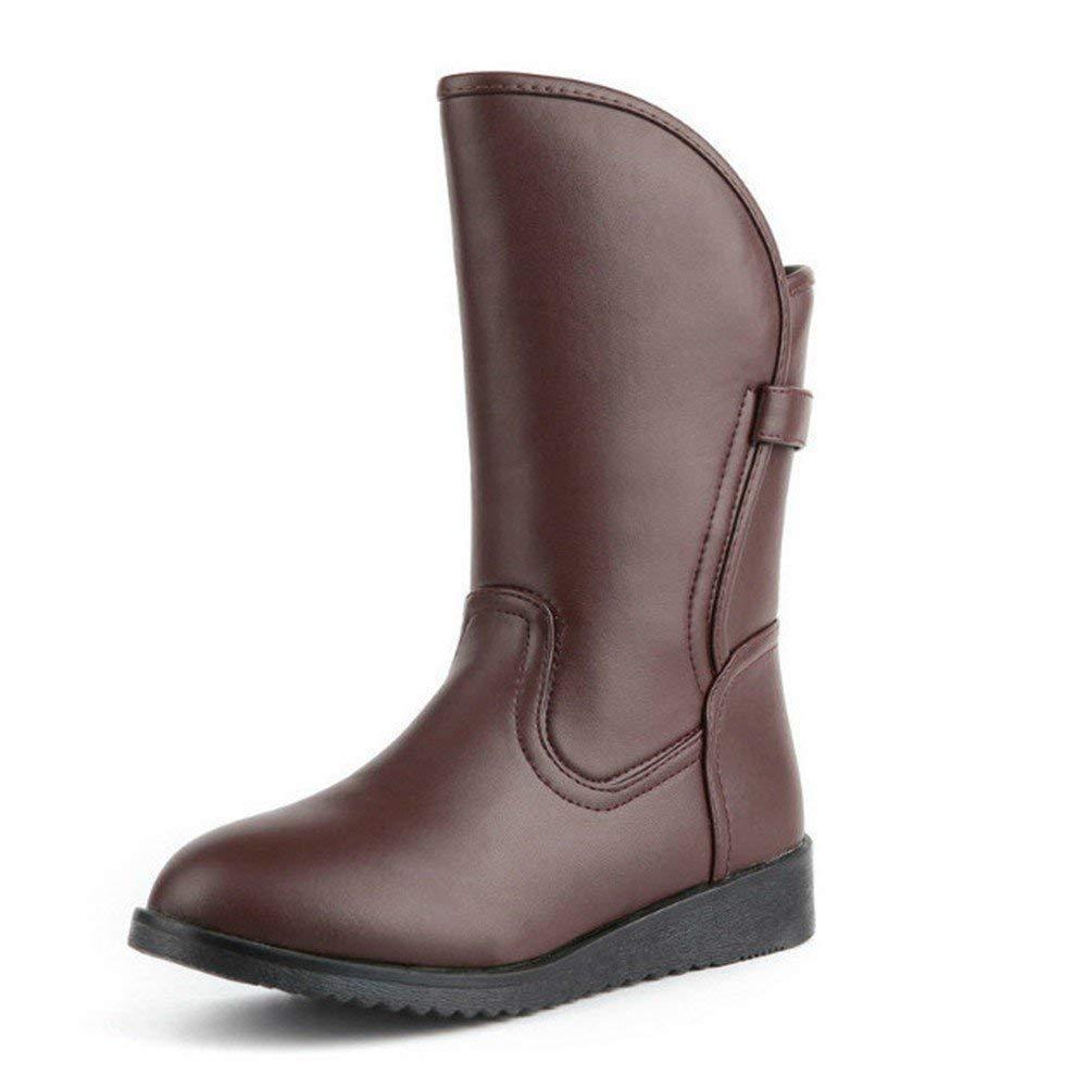 SED Scarponi Scarponi Scarponi da neve per donna Pu Warm Flat Bottom Casual Boots Shoes,38 Eu,Nero38 Eu 197bd8