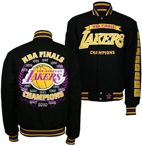 Los Angeles Lakers Nba Championship Commemorative Jacket Black 6xl Amazon Ca Sports Outdoors