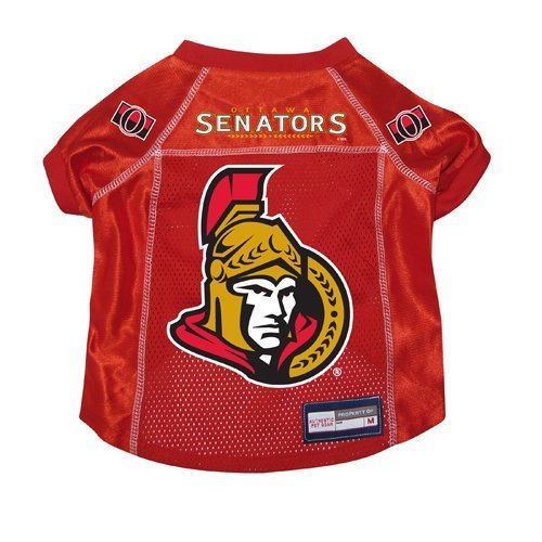Ottawa Senators Premium Pet Dog Hockey Jersey w/ Name Tag MEDIUM