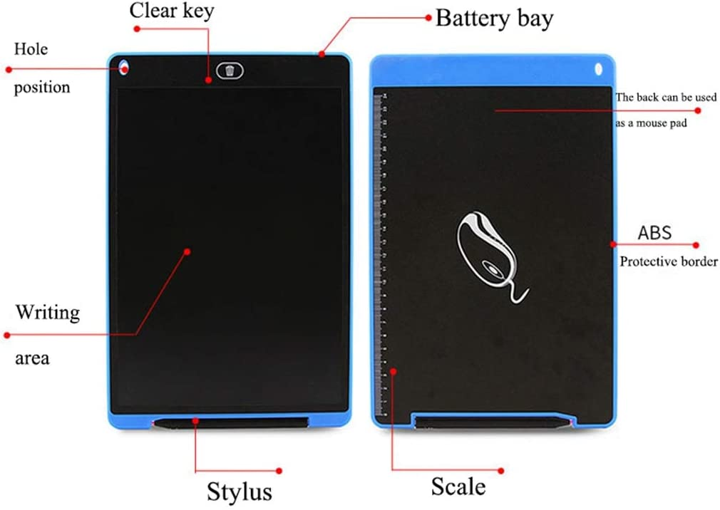 Drawing Doodle Sketch Memo Kids Drawing Board Gift 12 Inch LCD Writing Board//Light Energy Smart Small Blackboard