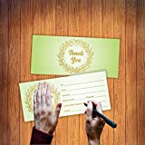 """Blank Gift Certificates for Business - (Pack of 25) Luxury Gold Foil Stamping 4"""" x 9"""" Coupon Voucher Cards - Light Green"""