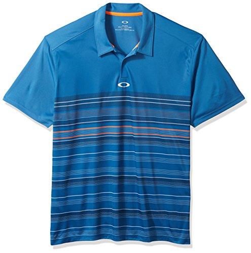 Oakley Men's High Crest Polo, California Blue, XL (Mens Crest Polo)