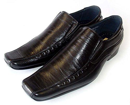 Delli Aldo New Mens Leather Lined Dress Shoes Loafers Slip ON Comfort Free Shoe Horn M18675/BLACK