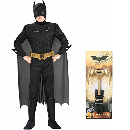 Batman Dark Knight Rises Deluxe Muscle Chest Child Complete Costume with Hook