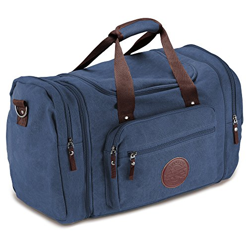 Deluxe Canvas Flight Bag Travel Duffel Durable Tote Bags for