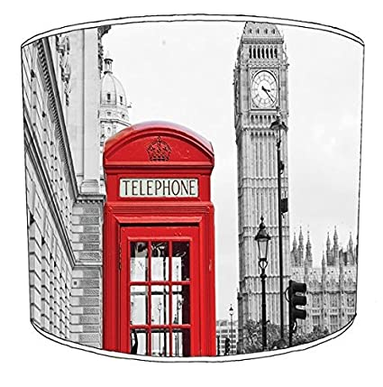 20,3/cm plafond Th/ème Londres Cabine t/él/éphonique Bus Rouge Big Ben Abat-jour imprim/é 8