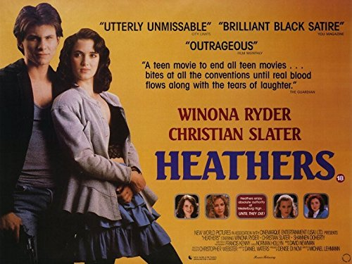 Heathers Poster Movie B Winona Ryder Christian Slater Kim Walker Shannen Doherty