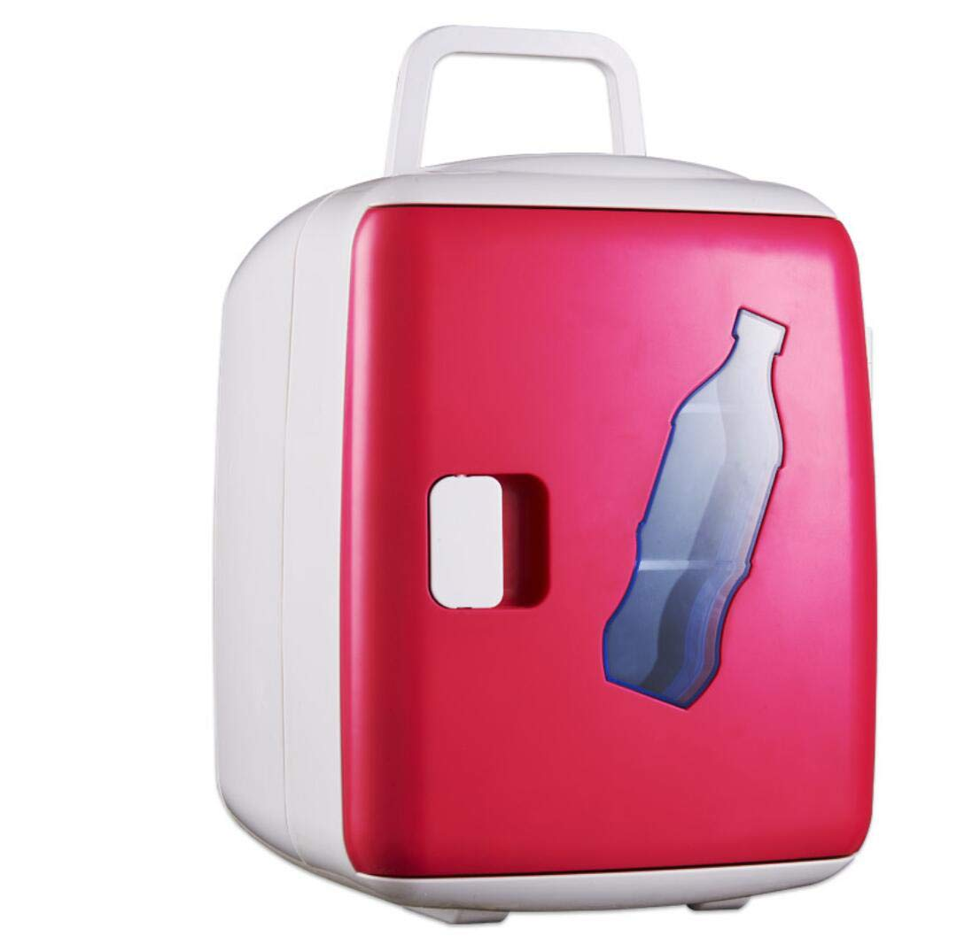 15L Car Mini Refrigerator Home Small Cooler, Semiconductor Refrigeration, Suitable For Food And Beverage Fruit Cooling,Red