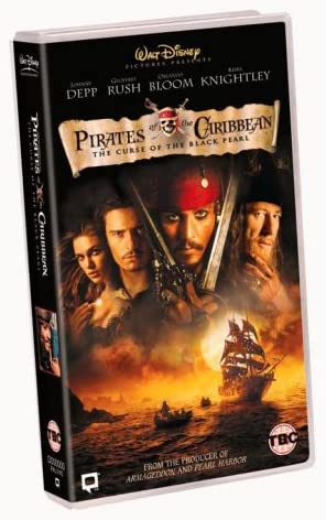 Pirates Of The Caribbean The Curse Of The Black Pearl Vhs 2003 Johnny Depp Geoffrey Rush Orlando Bloom Keira Knightley Jonathan Pryce Jack Davenport Lee Arenberg Mackenzie Crook Damian O Hare Giles New
