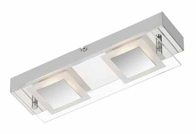 Lampada da soffitto led 2 x 400 lumen 2 x 5 w cromato prisma 3153