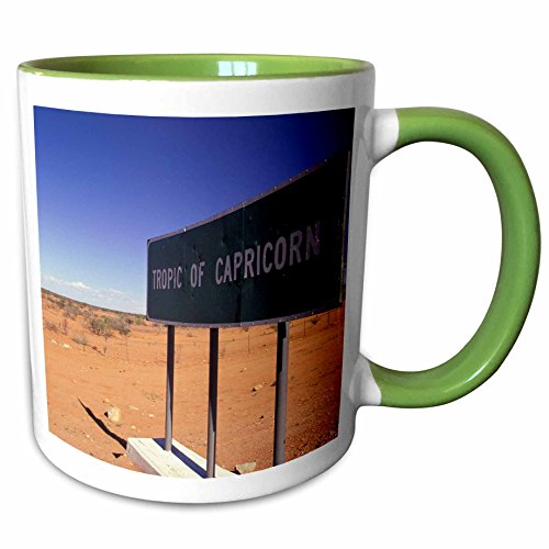 3dRose Danita Delimont - Road Signs - Africa, Namibia, Rehoboth, Tropic of Capricorn-AF31 WBI0028 - Walter Bibikow - 11oz Two-Tone Green Mug - Outlets Rehoboth De