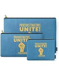 Society6 Procrastinators Unite Tomorrow (Blue) Carry-All Pouch