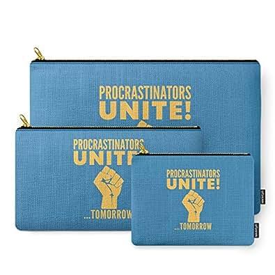 Society6 Procrastinators Unite Tomorrow (Blue) Carry-All Pouch Set of 3