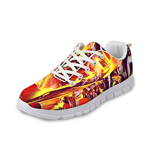 HUGS IDEA Painting Design Womens Fashion Casual Sneakers Lightweight Running Shoes Colorful 3