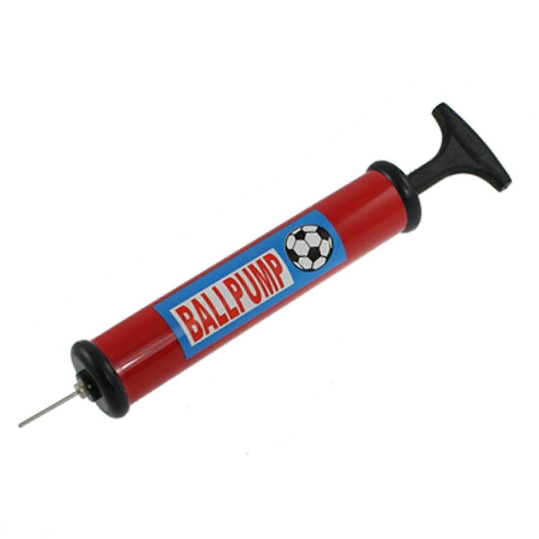 TOOGOO(R) Plastic Handle Basketball Football Air Pump Inflator Black Red SHOMAGT20908
