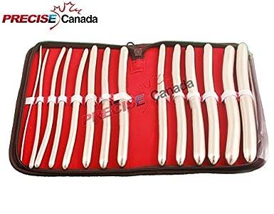 Precise Canadá: 14 pcs Set HEGAR Dilator uterinas con funda: Amazon.es: Amazon.es