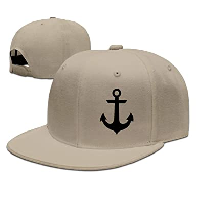 Image Unavailable. Image not available for. Color  Low Profile Nautical  Anchor Unisex Flat Bill Classic Run Baseball Caps ... 8a7c3634175