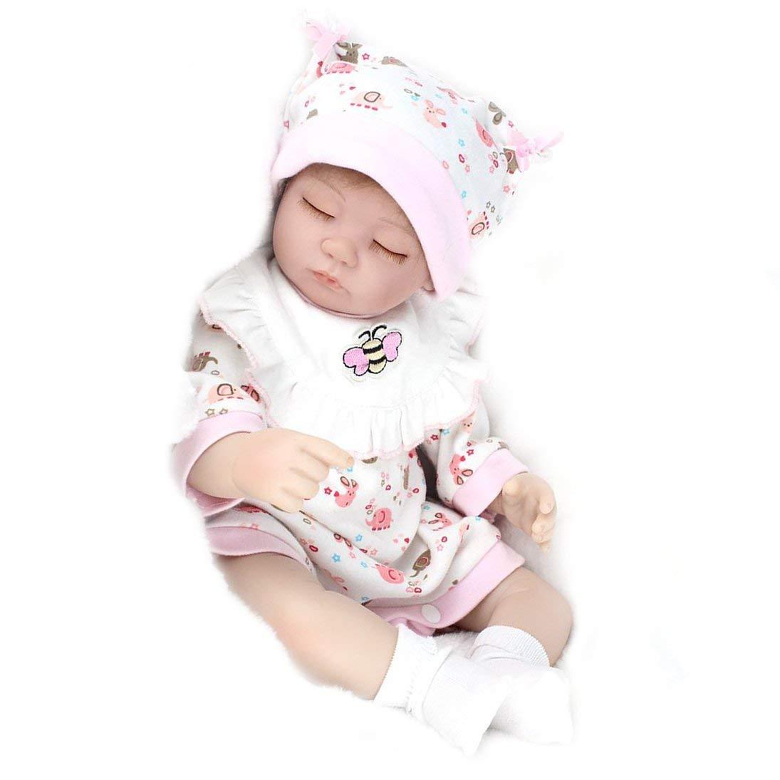 人気を誇る Baynne B07L32ZYX9 16インチ 本物そっくり 新生児 リボーンドール 子供 誕生日 眠る 子供 ベビードール 本物そっくり ハンドメイド 女の子のおもちゃ ピンクのよだれかけ付き B07L32ZYX9, Japan Net Golf:0d78f34e --- a0267596.xsph.ru