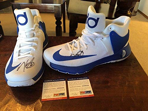 Kevin Durant Dual Autographed Signed Memorabilia Nike Kd Trey 5 Shoes Golden State Warriors PSA/DNA