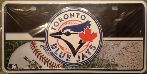 (MLB Toronto Blue Jays Metal Auto Tag)