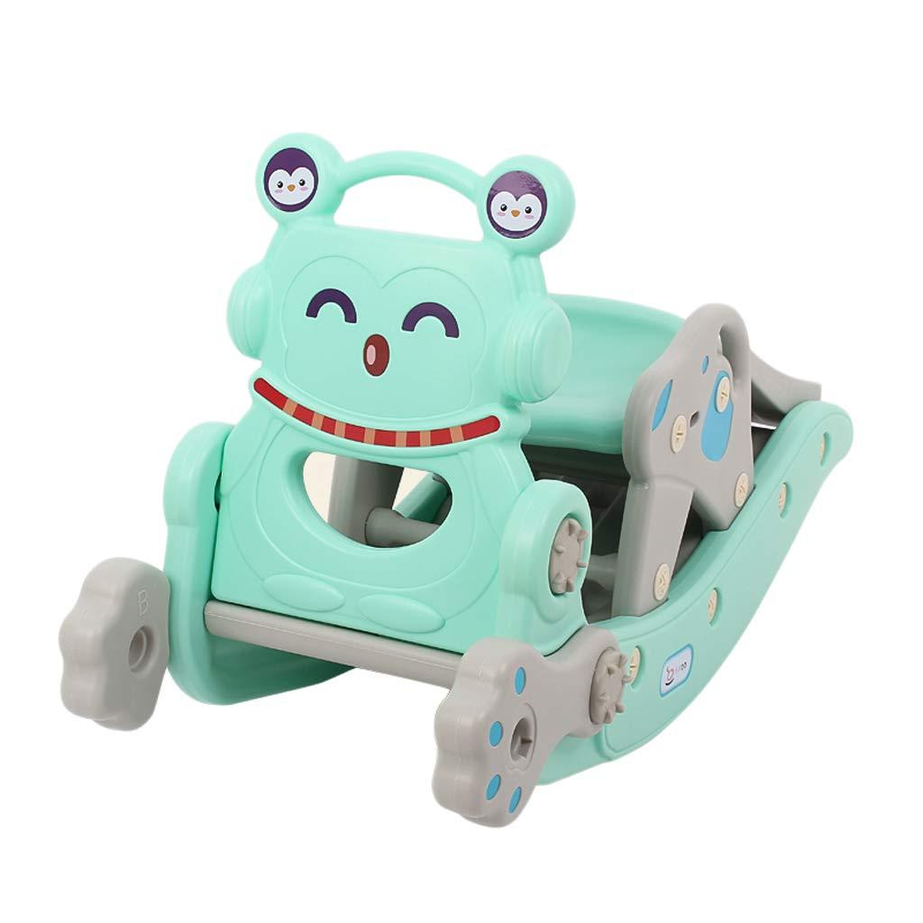 bleu Cheval à bascule LITING Slide Enfant Jouet de bébé Deux-en-Un bébé Cadeau d'anniversaire Rocking Chair Trojan (Couleur   rose)
