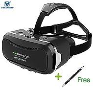 VICTORSTAR @ 3D VR Des lunettes 360 Visionnement Immersif Virtuel Réalité Casque Lunettes de vue VR Boîte Lunettes 3D Pour Films 3D Jeux Vidéo, Compatible Pour iPhone 6 / 6s / 6 Plus, 7/7 Plus SamSung S6 / S6 Edge / Note5