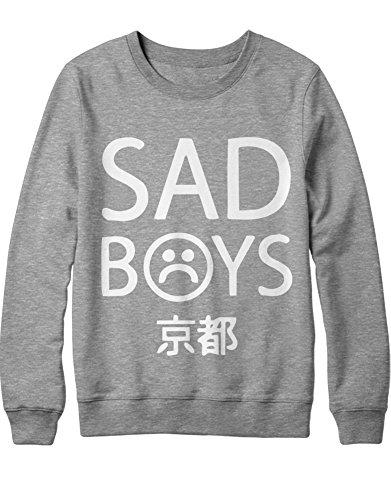 C000062 Sweatshirt Sadboys Gris Big Font x00YpqBw