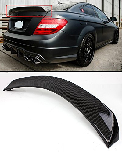 (Cuztom Tuning Fits for 2011-2015 Mercedes-Benz W204 C-Class 2 Door Coupe Carbon Fiber High Kick Trunk Spoiler)