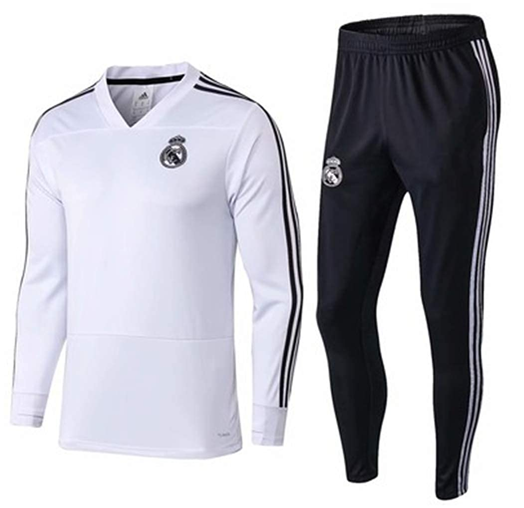 timeless design 5ea56 77d56 LISIMKE Real Madrid Club Long Sleeve Jersey Football Suit ...