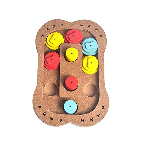 Gempet Intelligenz Spielzeug interaktiv Spielwaren wooden pet toy intelligence toys seek food for dogs
