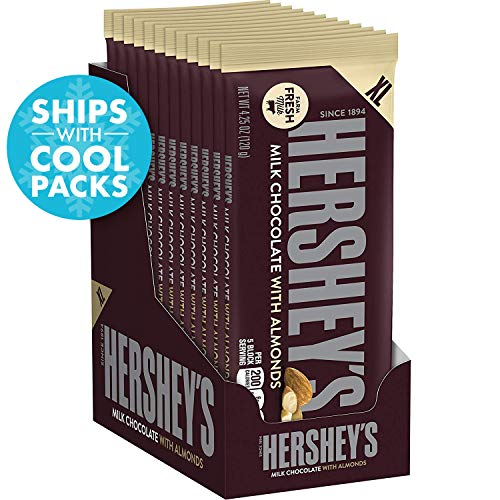 HERSHEY'S Chocolate Candy Bars with Almonds, 4.2 Ounce (Pack of -