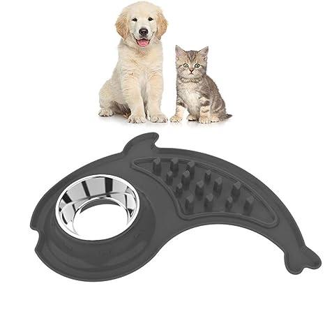 soundwinds - Cuenco de comedero para Mascotas, de Acero Inoxidable, para Comer Lentamente,