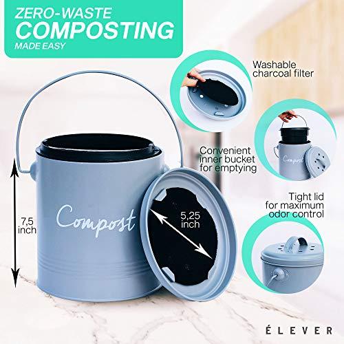 Amazon.com: Cubo de compost, cubo de acero inoxidable para ...