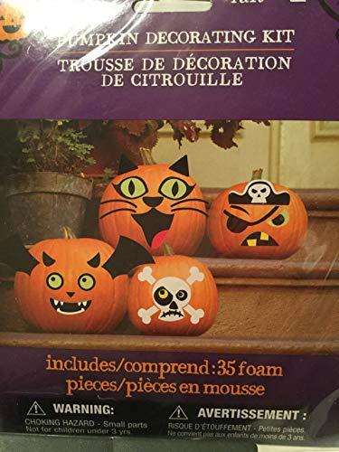 Halloween Pumpkin Decorating Kit, Decorates 4 -