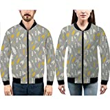 iPrint Hoodies for Men Pullover Active Lightweight Sweatshirt with,Fall at Portland Japanese