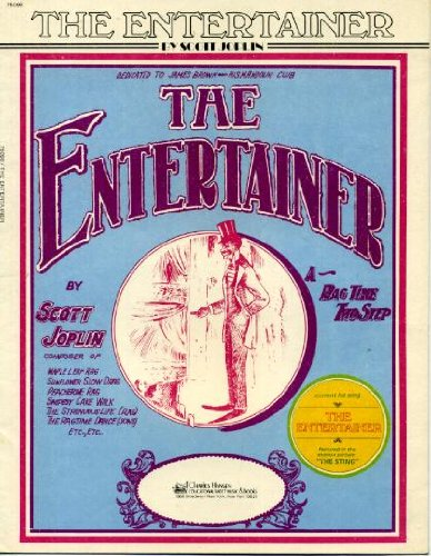 - The Entertainer by Scott Joplin Vintage 1972 Sheet Music from
