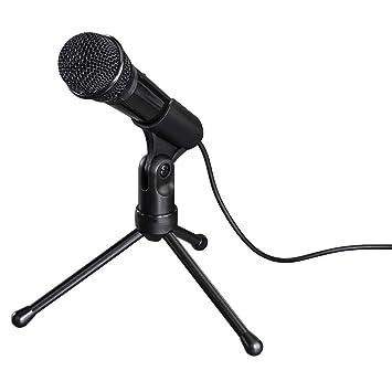 Hama MIC-P35 Allround Negro - Micrófono (50-16000 Hz