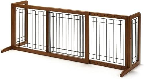 Richell-Wood-Freestanding-Pet-Gate