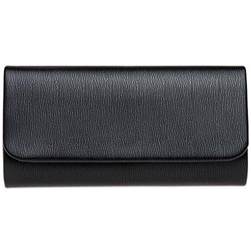 Mano Elegante Bolso Negro CASPAR Fiesta TA371 Largo de para Estilo Mujer Cwanq7UxB