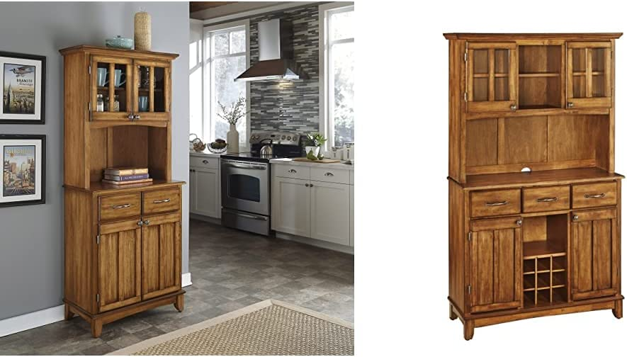 Buffet of Buffet Cottage Oak with Wood Top with Hutch by Home Styles & Buffet of Buffets Cottage Oak with Wood Top by Home Styles
