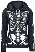 Full Volume by EMP Skeleton Sweatjacket Girl-Kapuzenjacke schwarz S
